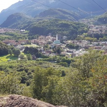 Boario Terme visto dalla Panchina Gigante