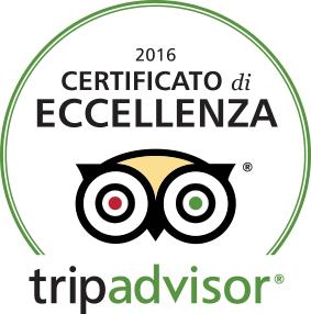 certificato di eccellenza trip advisor 2016