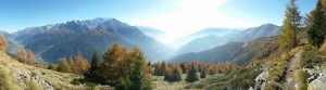 Vista dal monte Pagano in MTB