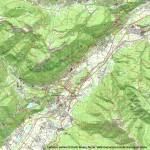 cartina e sentieri di Darfo Boario Terme - Valle Camonica